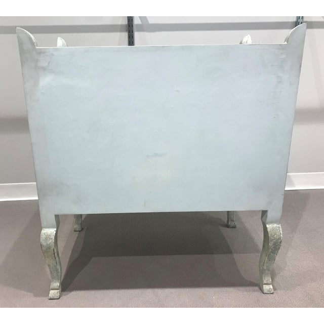 Antiqued Mirrored Chest Of Drawers For Sale - Image 4 of 13