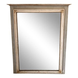 French Painted Mirror Early 19th Century Bought in Paris For Sale