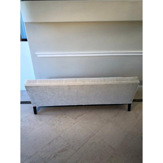 Mid-Century Modern Mitchell Gold Bob Williams Modern Gray Velvet Sofa For Sale - Image 3 of 6
