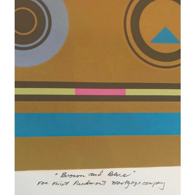 Mid-Century Modern Robert Hunter Serigraph - 1973 For Sale - Image 4 of 6