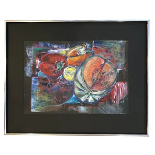 2014 Still Life Signed Pastel Drawing For Sale