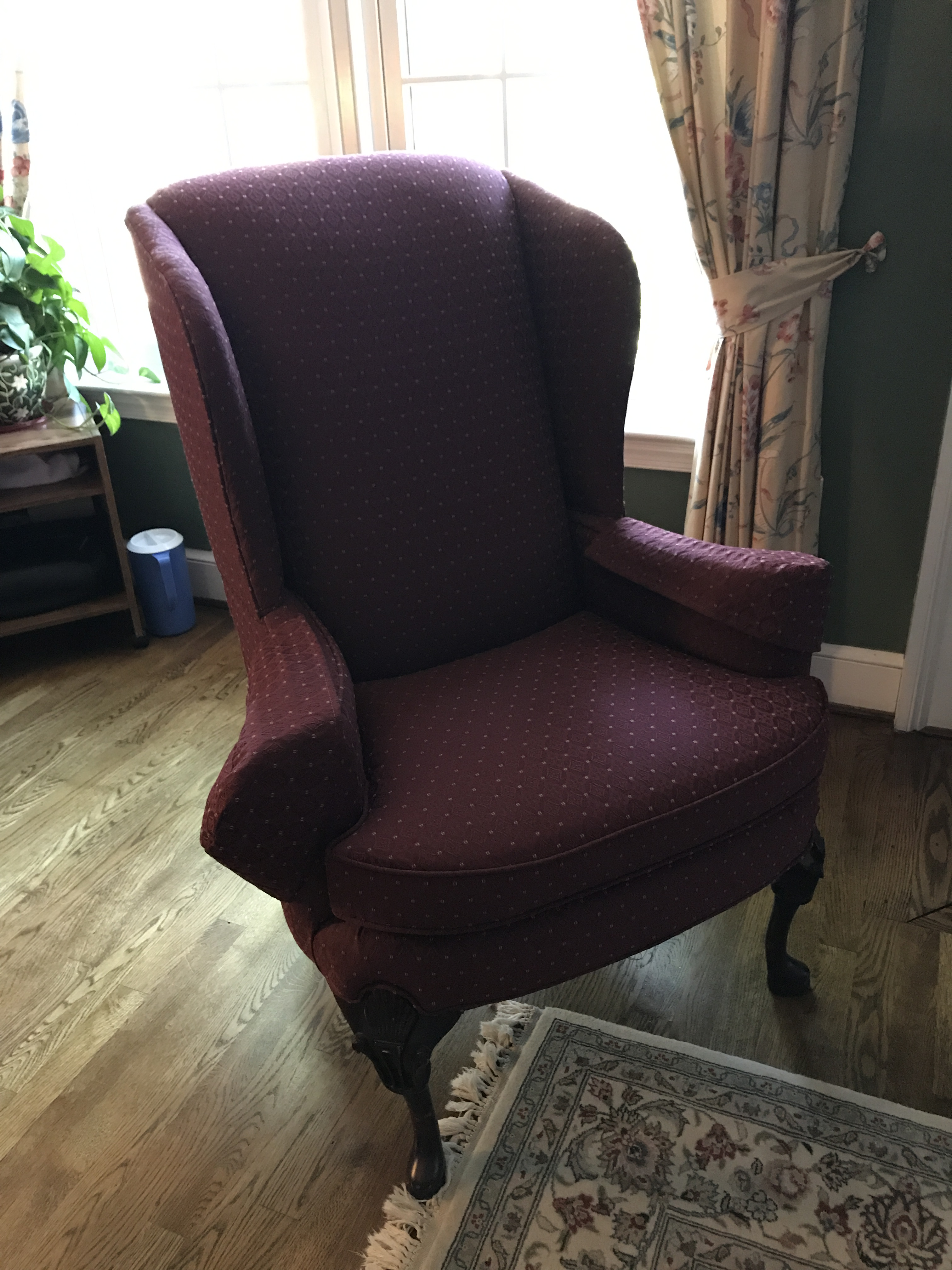 Comfy Wingback Chair Which Would Be Great As Side Chair In An Work Office  Or In