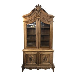 19th Century French Louis XV Stripped Bibliotheque For Sale