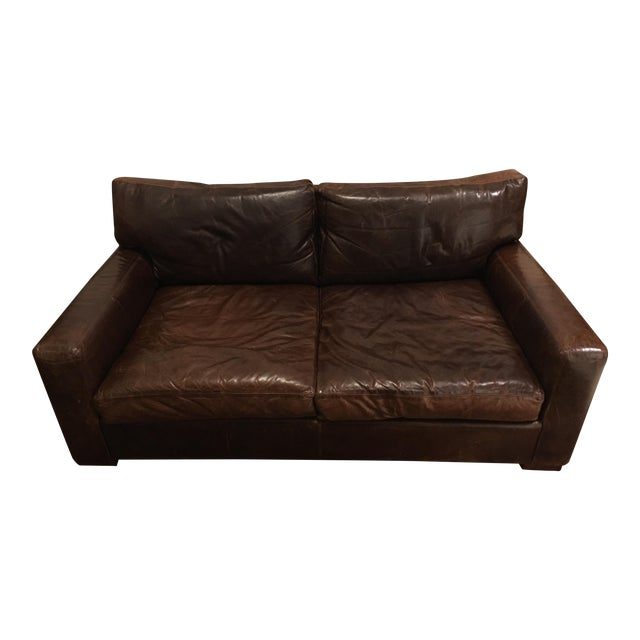 Restoration Hardware Maxwell Leather Sofa - Image 1 of 6