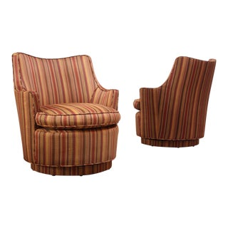 Mid-Century Modern Diminutive Swivel Chairs - a Pair For Sale