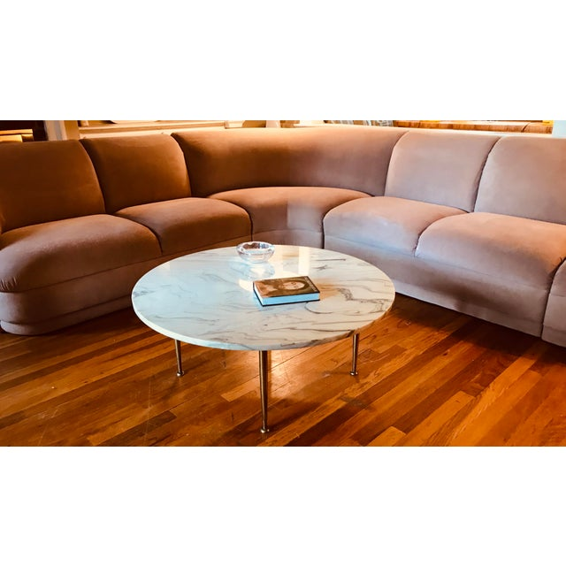 Blush Blush Serpentine Sectional Sofa by Vladimir Kagan for Weiman For Sale - Image 8 of 12