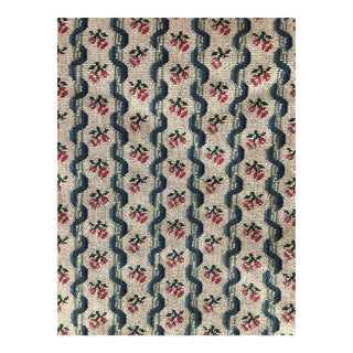 Country Floral Cotton Needlepoint Fabric - 2 Yards