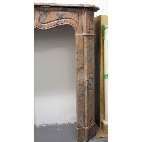 Danny Alessandro French Pompadour Marble Mantel For Sale - Image 4 of 7