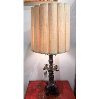 Vintage Marbro Lighting Co Metal Pewter Table Lamps Wood Base For Sale