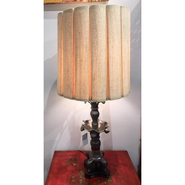 Gray Vintage Marlboro Lighting Co Metal Pewter Table Lamps - A Pair For Sale - Image 8 of 9