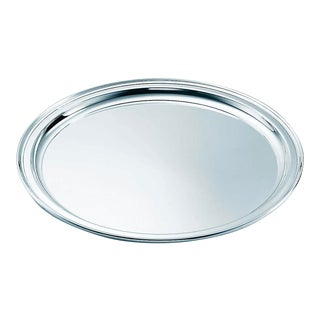 Tiffany Regency Sterling Silver Round Tray With Dust Bag For Sale