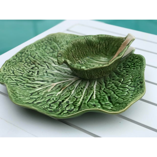 Portugal Cabbage Ware Serving Platter For Sale - Image 10 of 11