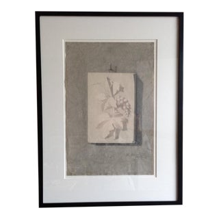 Original Antique Charcoal Drawing- Grapes For Sale