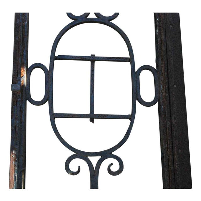 Rustic Wrought Iron Door Transom Window For Sale - Image 3 of 6