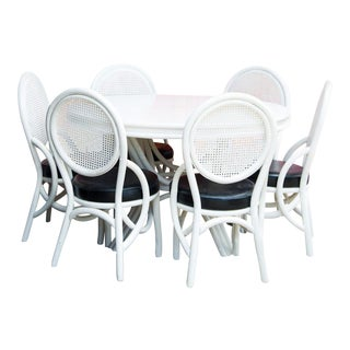 Kalp-Son Rattan Co. Mid-Century Modern Bentwood Dining Set For Sale
