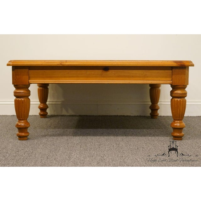 241d8b02753 Pine Lane Furniture Solid Pine Square Coffee Table For Sale - Image 7 of 12