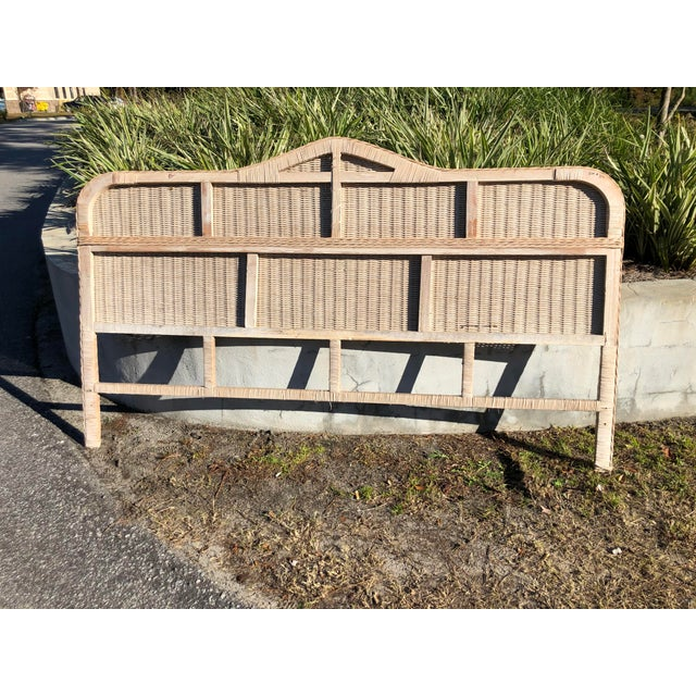 Vintage Rattan King Headboard For Sale In Charleston - Image 6 of 9