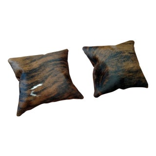 Gambrell Renard Cowhide Pillows - a Pair For Sale
