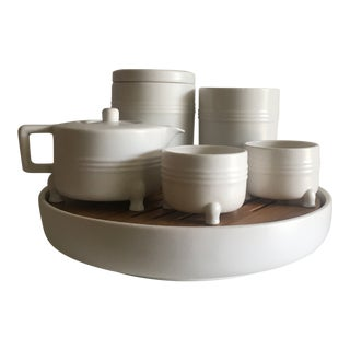 Modern Jia String National Palace Museum Tea Set- 7 Pieces For Sale