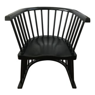 Noir Bolah Chair Wood Caged in Hand Rubbed Black For Sale