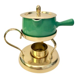 Swiss Brass & Ceramic Sauce Warmer