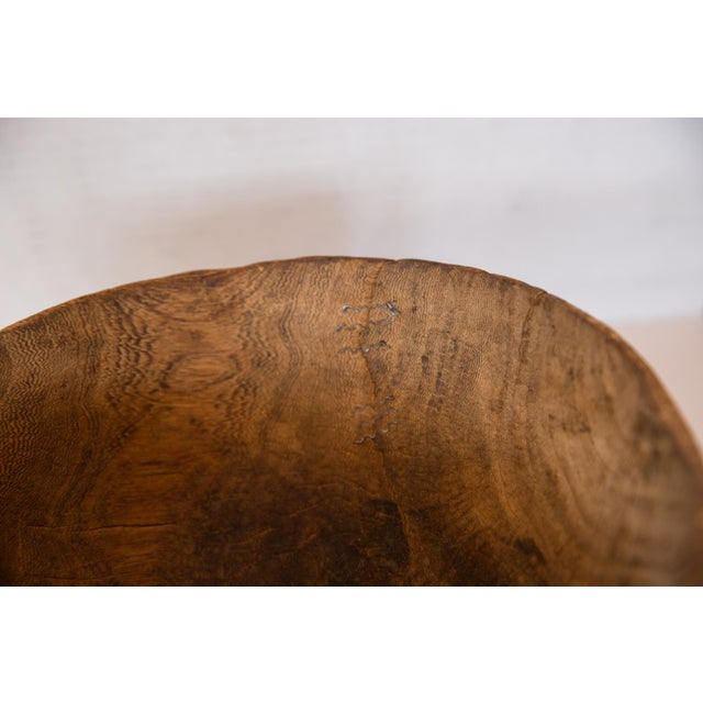 Mid 20th Century Vintage African Wooden Bowl For Sale - Image 5 of 6