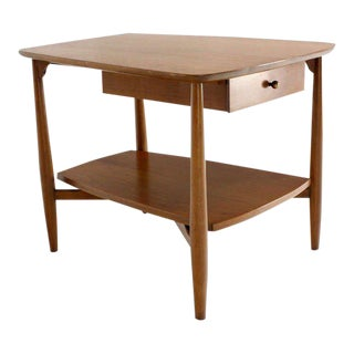 Mid-Century Modern John Stuart Walnut End Table For Sale
