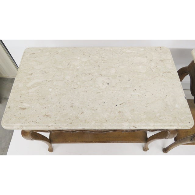Auffray Marble Top Side Tables - A Pair For Sale - Image 5 of 7