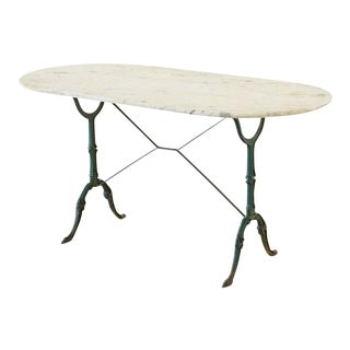 19th Century French Marble Garden Bistro Dining Table For Sale
