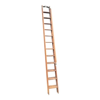 Antique 1900s Library Ladder For Sale