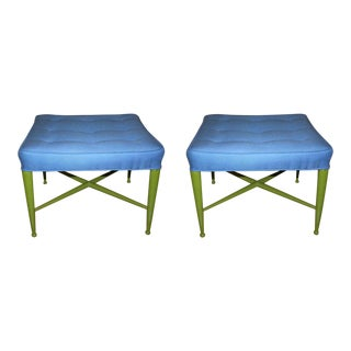 Edward Wormley for Dunbar Square Ottomans - a Pair For Sale