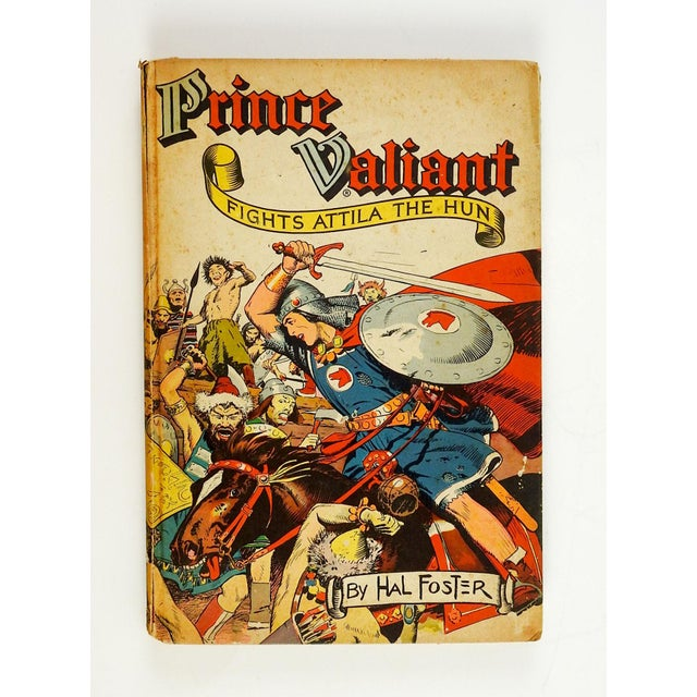 Prince Valiant Fights Attila the Hun by Hal Foster. Hastings House, New York, 1952. Golden age of comics early graphic...