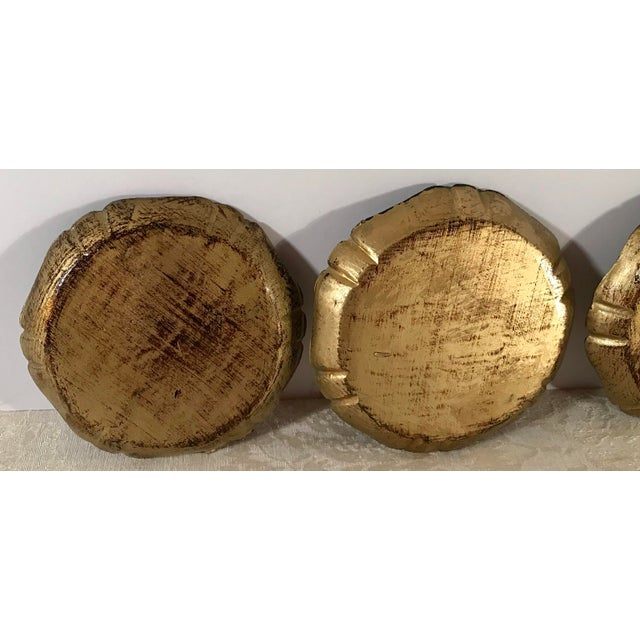 Gold Italian Wooden Gold Florentine Coasters - Set of 4 For Sale - Image 8 of 11