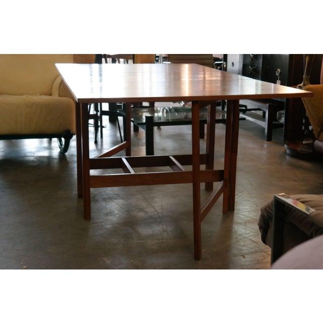 Danish Modern Danish Modern Teak Gate Leg Drop Leaf Dining Table For Sale - Image 3 of 6