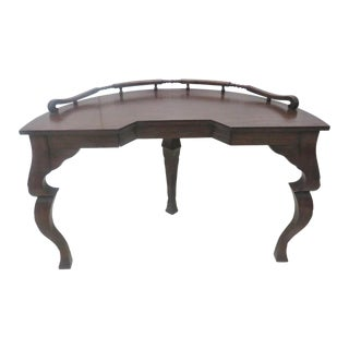 Baker Country French Oak Demilune Desk For Sale
