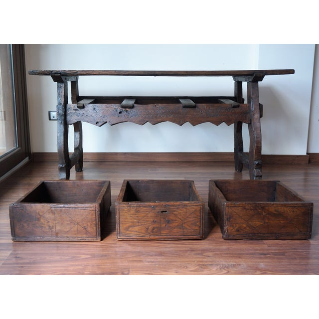 18th Spanish Refectory Table with Three Drawers - Image 4 of 8