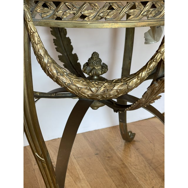 Antique French Bronze Regency Black Marble Top Table
