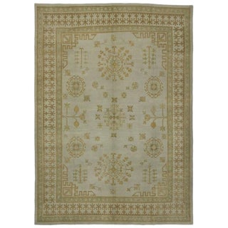 Modern Turkish Oushak Rug with Transitional Style and Casual Elegance, 10'03 x 14'04 For Sale