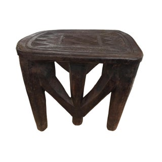 "African Lg Nupe Stool/Table Nigeria 23.5"" W by 18.5"" H Preview"