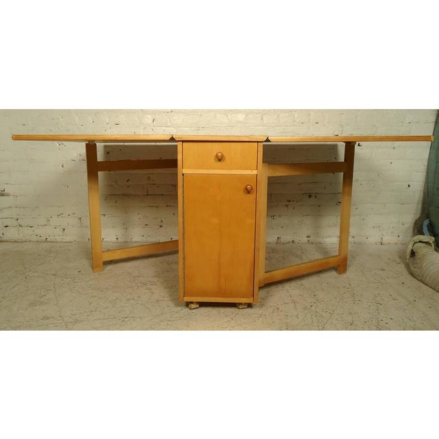 Mid-Century Modern Drop-Leaf Table With Chairs - Dining Set For Sale - Image 10 of 10