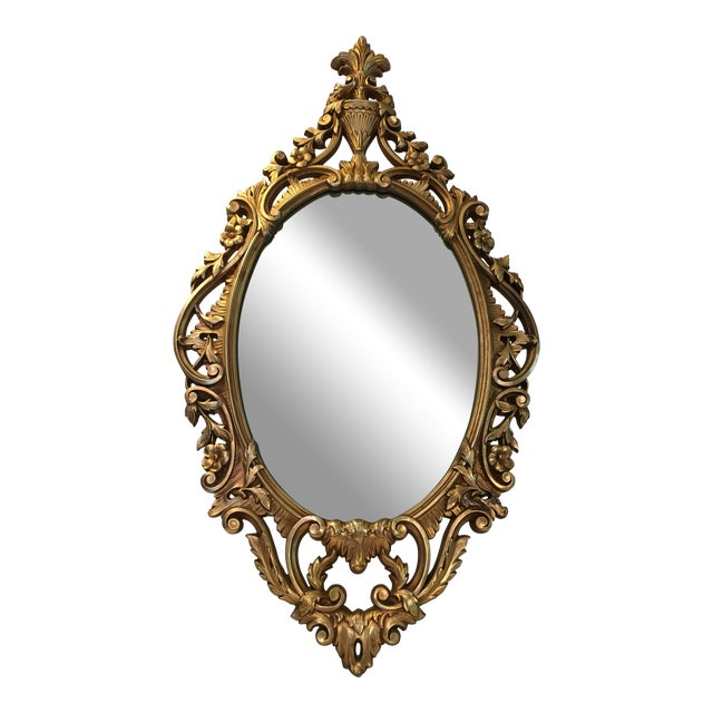 Burwood Products Gold Ornate Mirror - Image 1 of 8