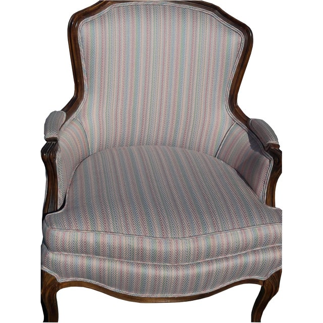Vintage French bergere armchair Upholstered. Lovely classic, country or cottage chair, upholstery in excellent condition,...