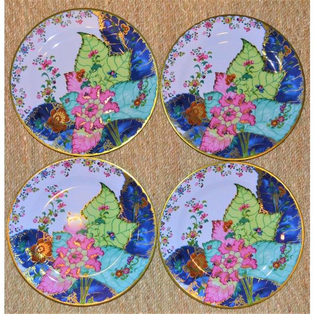 Enamaled Tin Tobacco Leaf Plates - Set of 4 For Sale - Image 11 of 13