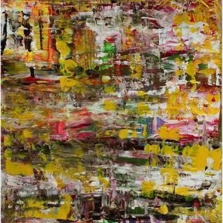 """Leila Pinto """"Medium Volatility"""" Acrylic Painting on Canvas For Sale"""