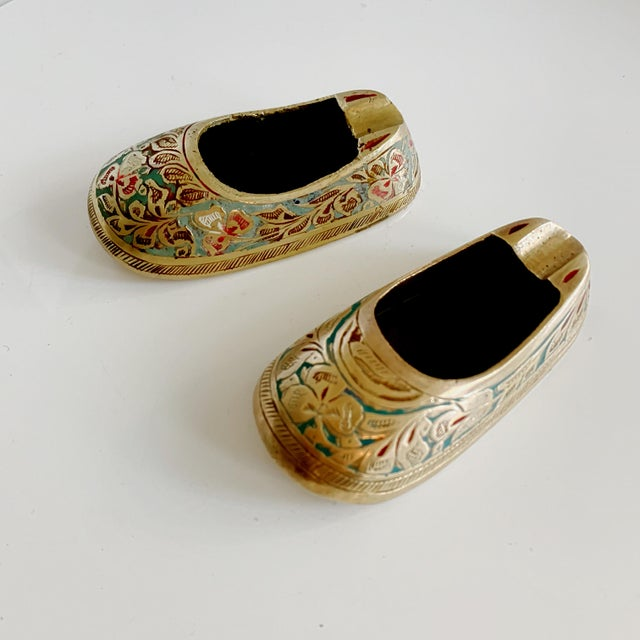 Vintage Ca 1960s Indian Mini Shoe Shape Ashtray - 2 Pieces For Sale - Image 12 of 12
