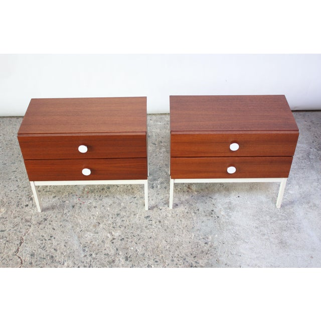 Pair of Danish Modern Teak 2-Drawer Nightstands - Image 3 of 9