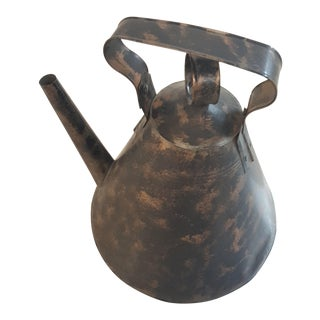 Sarreid Home Decor Oversized Tin Tea Pot For Sale