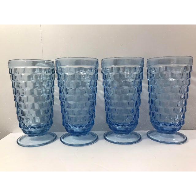Fostoria 1970s Light Blue Fostoria Cubist Glasses - Set of 4 For Sale - Image 4 of 4