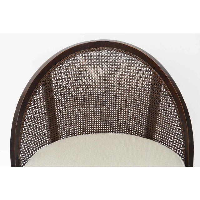 Distinctive Mahogany Cane Back Chair For Sale - Image 10 of 10