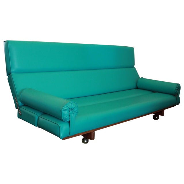 Martin Borenstein Turquoise Daybed Sofa Mid Century Modern C.1960's For Sale